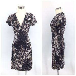 Banana Republic Dress Medium Silk Animal Print
